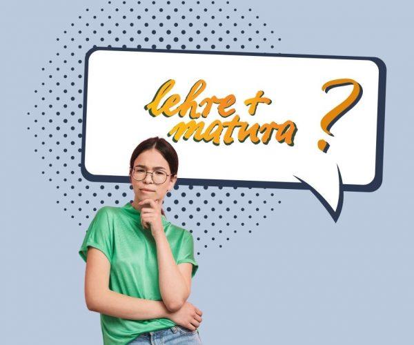 Das Bild zeigt ein Mädchen im Teenie-Alter, die sich die Frage stellt, was eine Lehre Plus Matura ist.